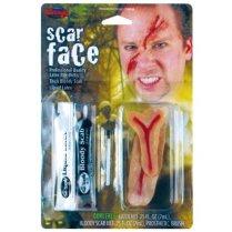 Scar Face Fx Kit Makeup for Fancy Dress Fscar Face Fx Kit