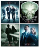 PROMO X-Files Revival 4 card Set - Mulder, Scully, Cigaratte Man, Skinner