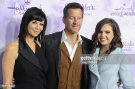 PASADENA, CA - JANUARY 08: Actors Catherine Bell, James Denton and Bailee Madison arrive at the Hallmark Channel and Hallmark Movies and Mysteries Winter 2016 TCA Press Tour at Tournament House on January 8, 2016 in Pasadena, California. (Photo by Gregg DeGuire/WireImage)