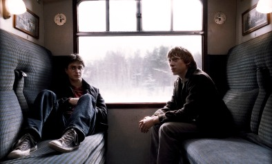"""DANIEL RADCLIFFE as Harry Potter and RUPERT GRINT as Ron Weasley in Warner Bros. PicturesÕ fantasy adventure movie ÒHarry Potter and the Half-Blood Prince."""" NOTE; THIS PHOTO WAS DOWNLOADED BY CONSENTING TO AN AGREEMENT THAT IT WOULD NOT BE USED OUTSIDE THE LOS ANGELES TIMES. WE RECEIVED SPECIAL PERMISSION TO KEEP THIS PHOTO IN OUR DATABASE BEYOND THE STATED 90 DAY RESTRICTION. CAN BE USED ONLY IN EDITORIAL. NO ADS, SALES, ETC. PERMISSION GIVE BY JESSE MESA,WARNER BROS. PHOTO (818) 954-6256."""