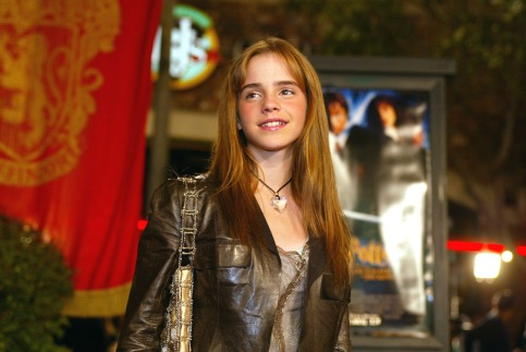 """Emma Watson at the Los Angeles premiere of """" Harry Potter and the Chamber of Secrets"""" at the Village Theatre, Thursday, Nov. 14, 2002. Photo by Kevin Winter/ImageDirect."""
