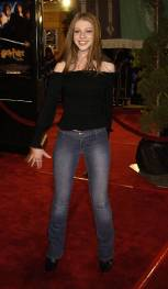 """Michelle Trachtenberg during """"Harry Potter and the Chamber of Secrets"""" Premiere - Los Angeles - Arrivals at Mann Village Theatre in Westwood, California, United States. (Photo by Gregg DeGuire/WireImage)"""