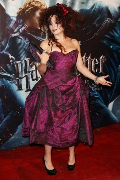 LONDON, ENGLAND - NOVEMBER 11: (UK TABLOID NEWSPAPERS OUT) Helena Bonham Carter attends the World Premiere of Harry Potter And The Deathly Hallows: Part 1 held at The Odeon Leicester Square on November 11, 2010 in London, England. (Photo by Dave Hogan/Getty Images)