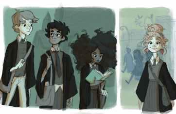 ron-harry-hermione-and-luna-lovegood-byloquaciousliterature
