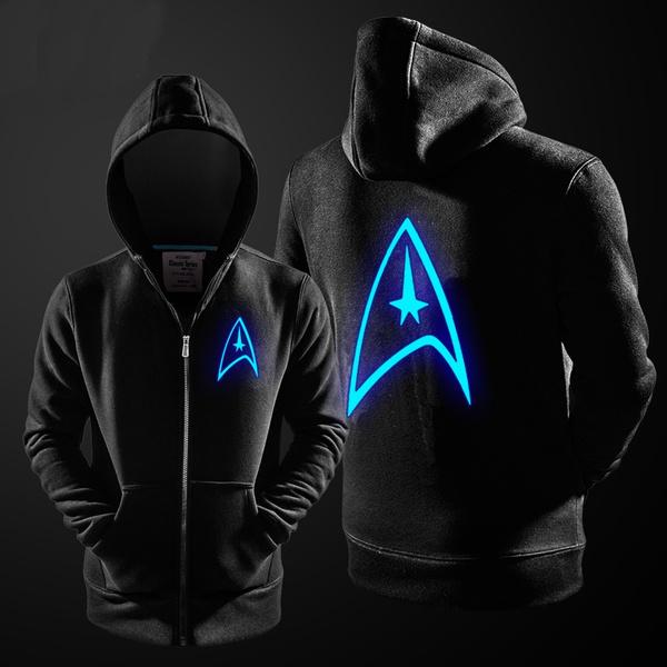 Movie Star Trek Hooded Hoodie Zip Up Sweatshirt Unisex Outwear Costume Coat Tops
