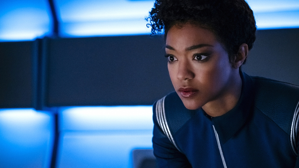 """Choose Your Pain"" -- Episode 105 -- Pictured: Sonequa Martin-Green as First Officer Michael Burnham of the CBS All Access series STAR TREK: DISCOVERY. Photo Cr: Jan Thijs/CBS © 2017 CBS Interactive. All Rights Reserved."